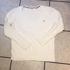 Old Navy size XXL off-white preppy cotton sweater